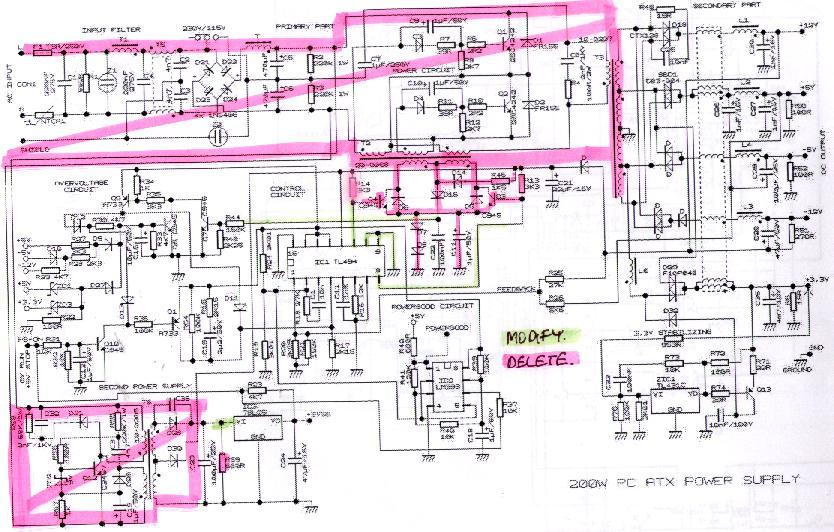 ATX Power Supply Schematic http://www.uydudoktoru.com/dosyalar/elektronik/Besleme_Devreleri/12_to_ATX_Power_supply/ATX%20Power%20supply.htm